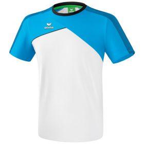 Erima Premium One 2.0 T-Shirt Kind Wit-Curacao-Zwart K1081804