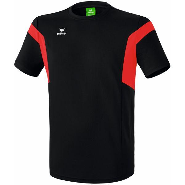 Erima Classic Team T-Shirt Zwart-Rood Maat 128