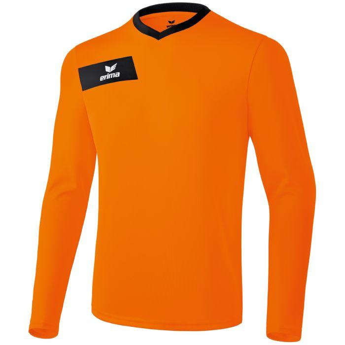 Erima Porto Shirt Lange Mouw Oranje-Zwart Maat L