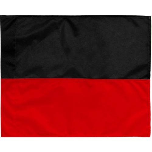 Hoekvlag Zwart-Rood