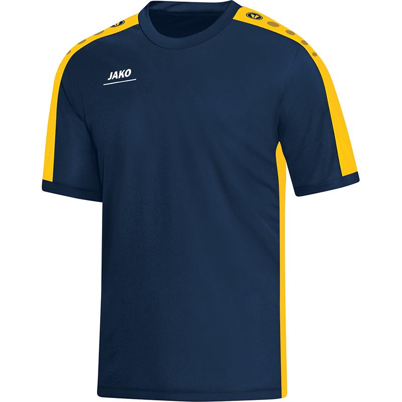 Jako Striker T-Shirt Marine-Geel Maat 140