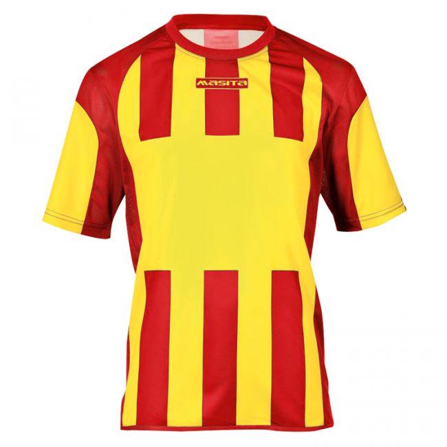 Masita Sportshirt Inter Korte Mouw Geel-Rood Maat 128