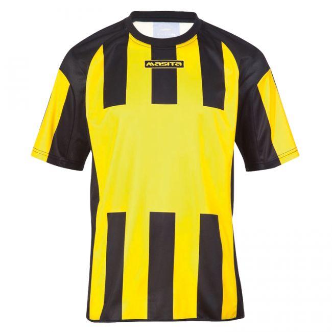 Masita Sportshirt Inter Korte Mouw Geel-Zwart Maat 140