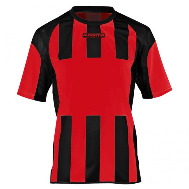 Masita Sportshirt Inter Korte Mouw Rood-Zwart Maat 128