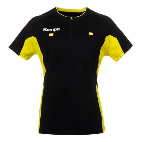 Kempa Referee Shirt Dames Zwart-Geel Maat XL