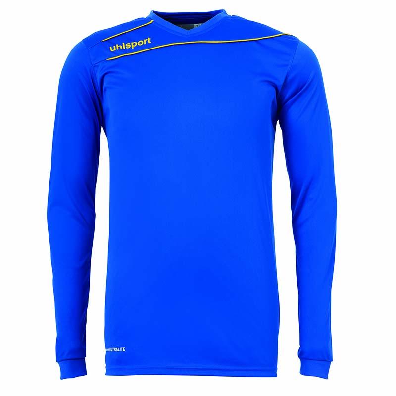 Uhlsport Stream 3.0 Shirt Lange Mouw Blauw Azuur-Mais Geel Maat 116