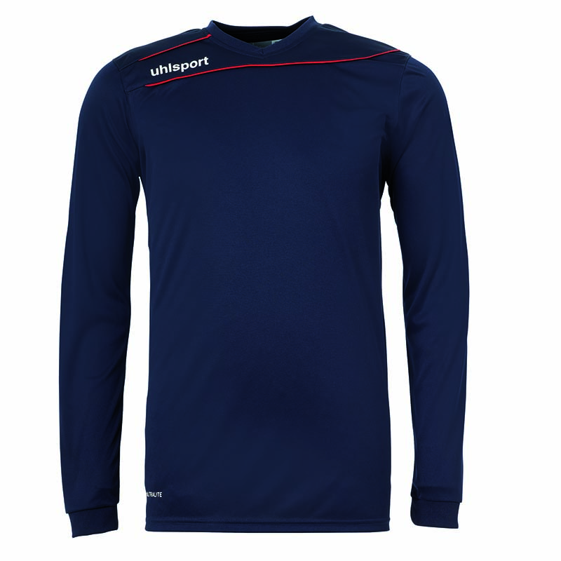 Uhlsport Stream 3.0 Shirt Lange Mouw Blauw Marine-Rood Maat 140