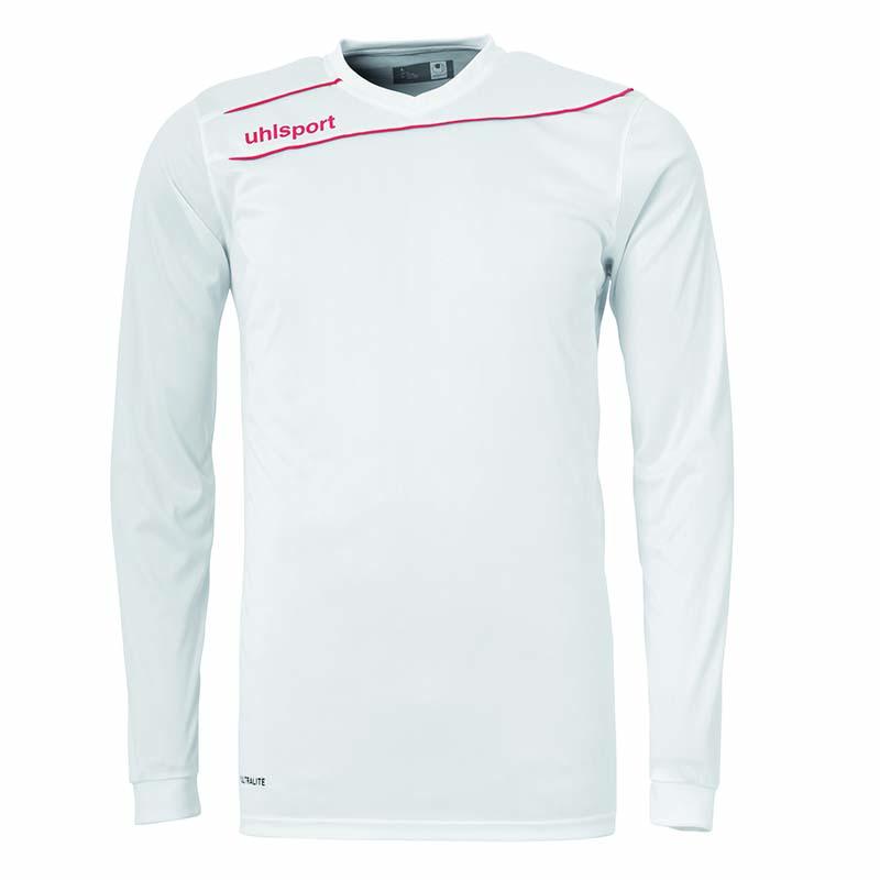 Uhlsport Stream 3.0 Shirt Lange Mouw Wit-Rood Maat 140
