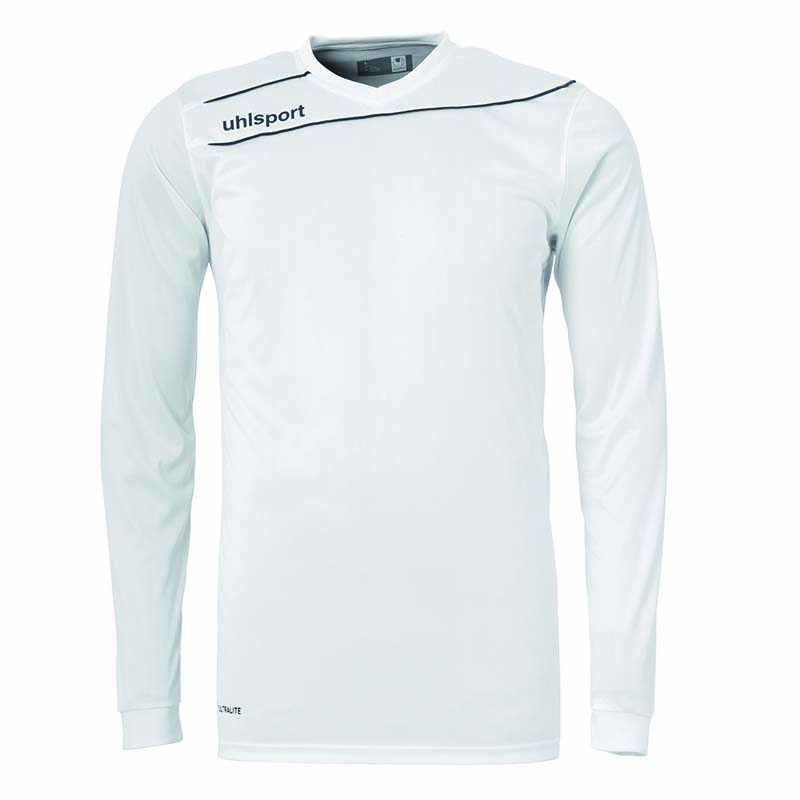 Uhlsport Stream 3.0 Shirt Lange Mouw Wit-Zwart Maat 164/S