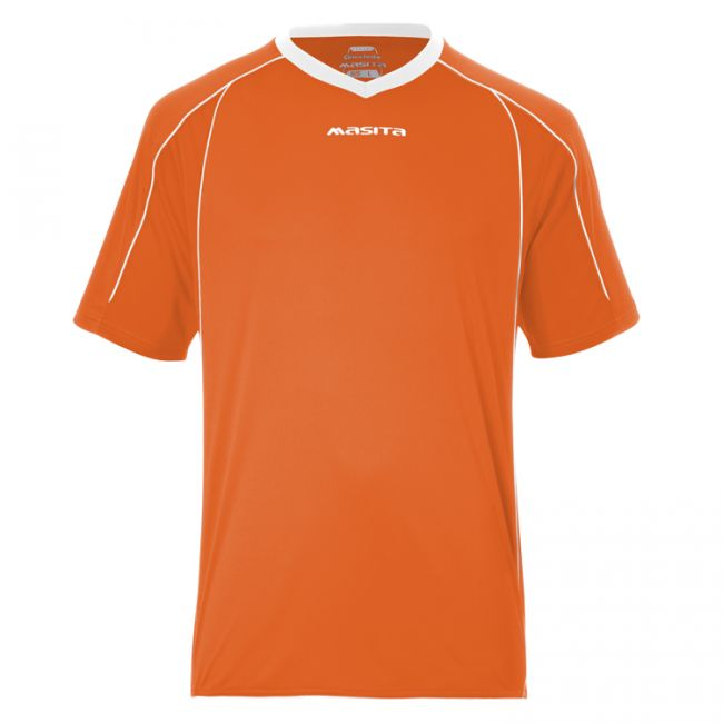 Masita Sportshirt Striker Korte Mouw Oranje-Zwart Maat L