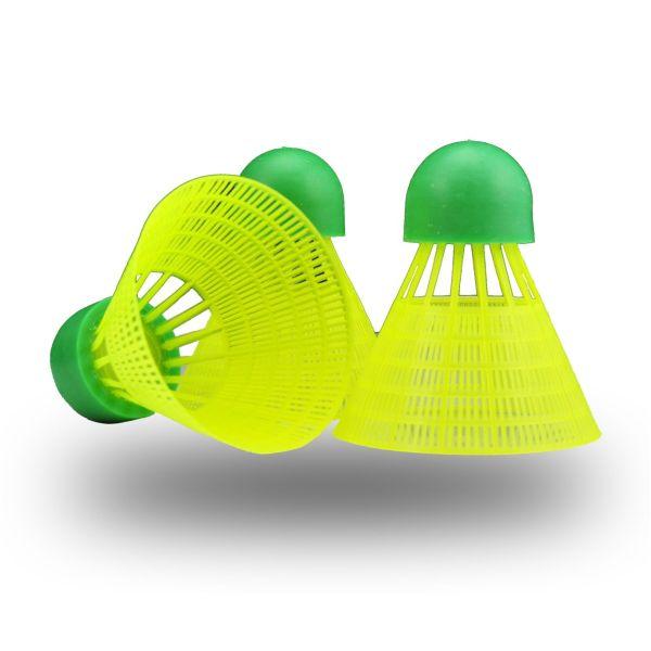Rucanor Speed Set Shuttle Badminton Geel-Groen (Slow)