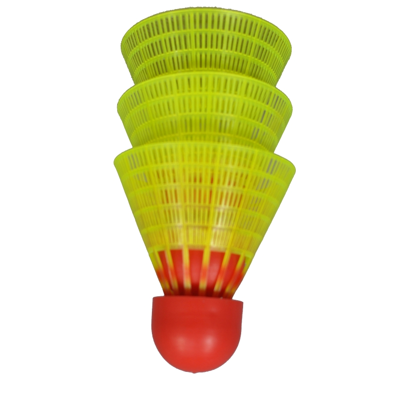 Rucanor Speed Set Shuttle Badminton Geel-Rood (Fast)