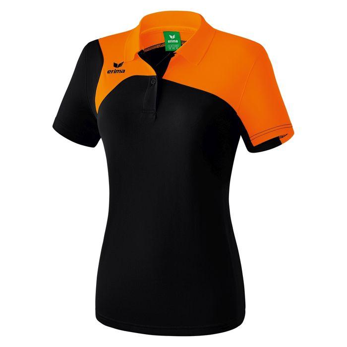 Erima Club 1900 2.0 Polo Dames Zwart-Oranje Maat 38
