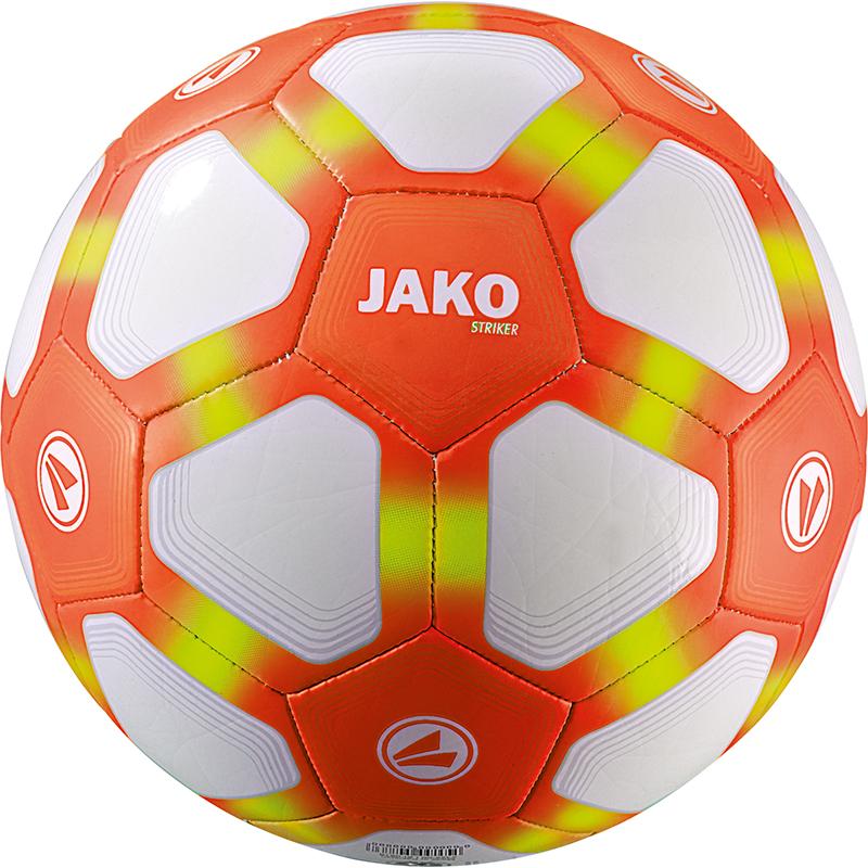 Jako Lightbal Striker Maat 5 Wit-Fluo Oranje-Fluo Geel