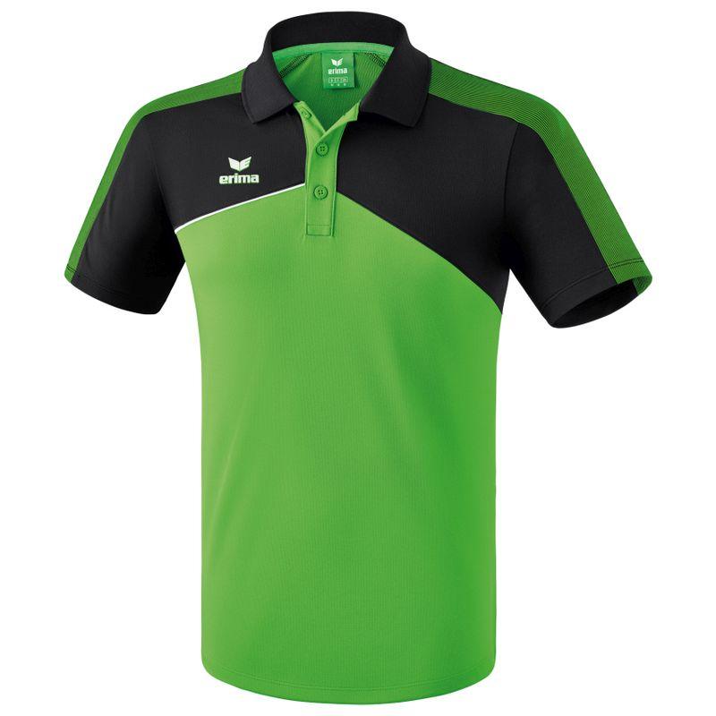 Erima Premium One 2.0 Polo Groen-Zwart-Wit Maat L