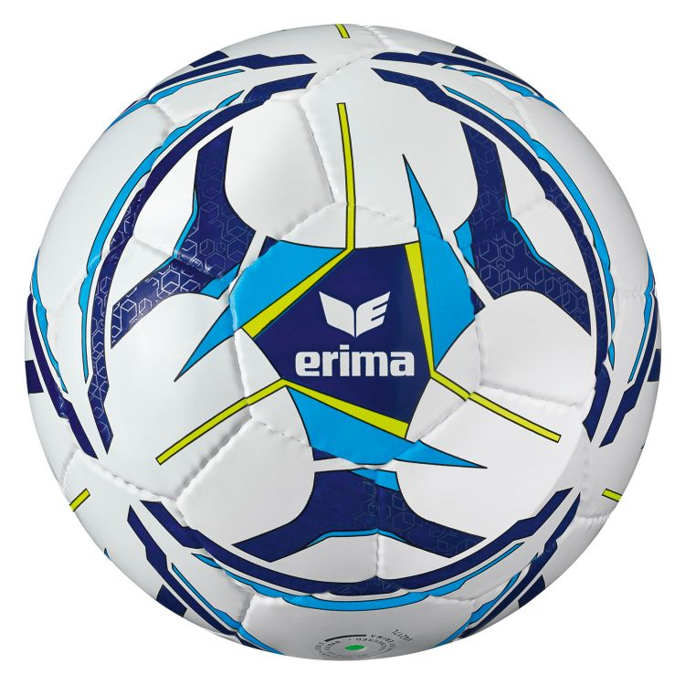 Erima Senzor Allround Training Voetbal Wit-Curacao-New-Navy (maat 5)