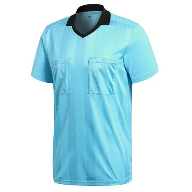 Adidas Referee 18 Scheidsrechter Shirt Korte Mouw Bright Cyaan Maat S