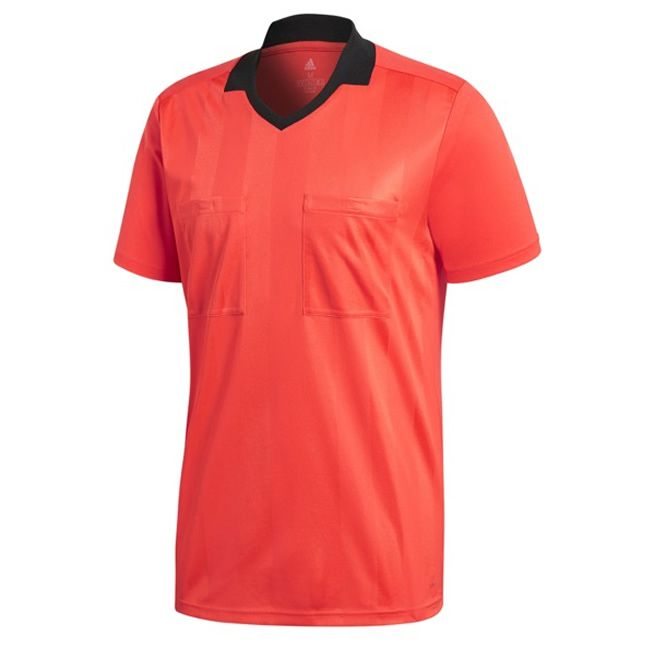 Adidas Referee 18 Scheidsrechter Shirt Korte Mouw Bright Rood Maat S