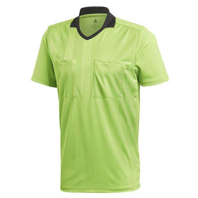 Adidas Referee 18 Scheidsrechter Shirt Korte Mouw Semi Solar Groen Maat S