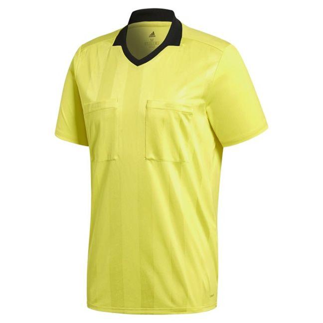 Adidas Referee 18 Scheidsrechter Shirt Korte Mouw Shock Geel Maat L