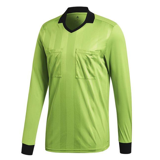 Adidas Referee 18 Scheidsrechter Shirt Lange Mouw Semi Solar Groen Maat S
