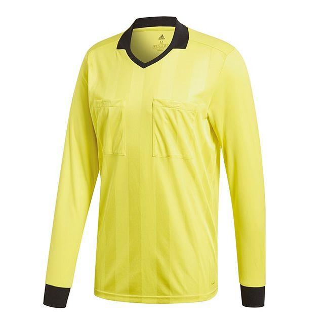 Adidas Referee 18 Scheidsrechter Shirt Lange Mouw Shock Geel Maat S