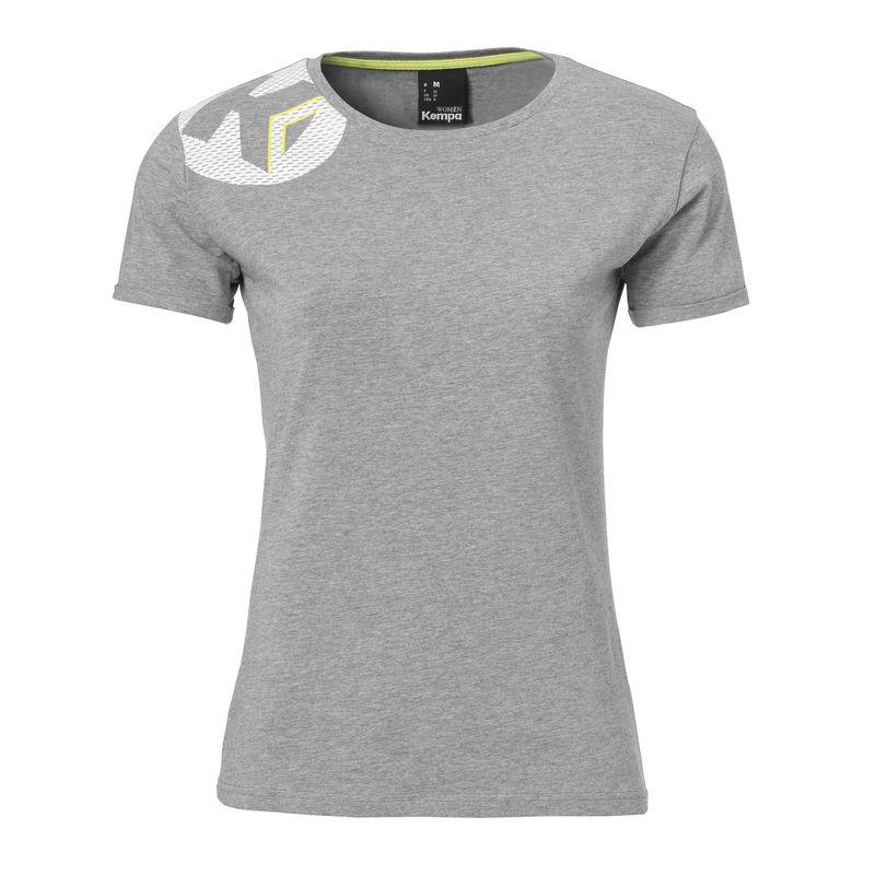 Kempa Core 2.0 T-Shirt Dames Donker Grijs Melange Maat XS