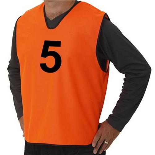 Set Overgooiers met Nummers Oranje Maat S