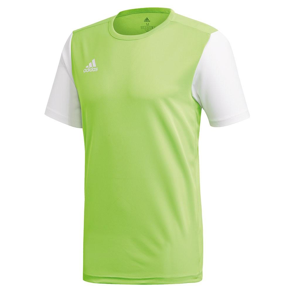 Adidas Estro 19 Shirt Solar Groen-Wit Maat S
