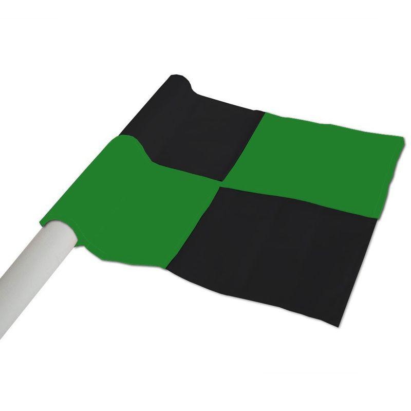 Hoekvlag 50 Millimeter Geruit Zwart-Groen