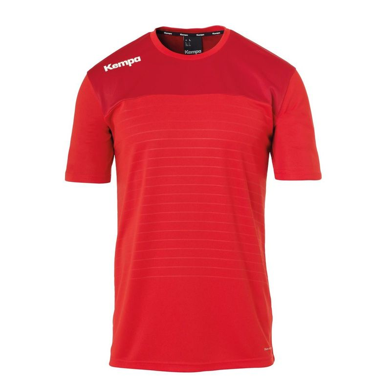 Kempa Emotion 2.0 Shirt Korte Mouw Rood-Chili Rood Maat S