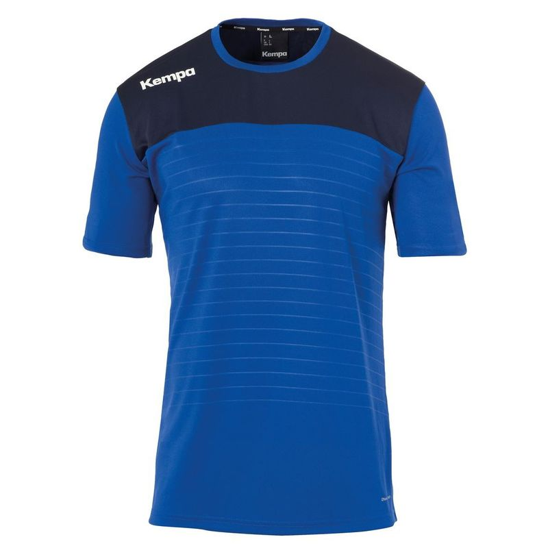 Kempa Emotion 2.0 Shirt Korte Mouw Royal Blauw-Marine Blauw Maat S