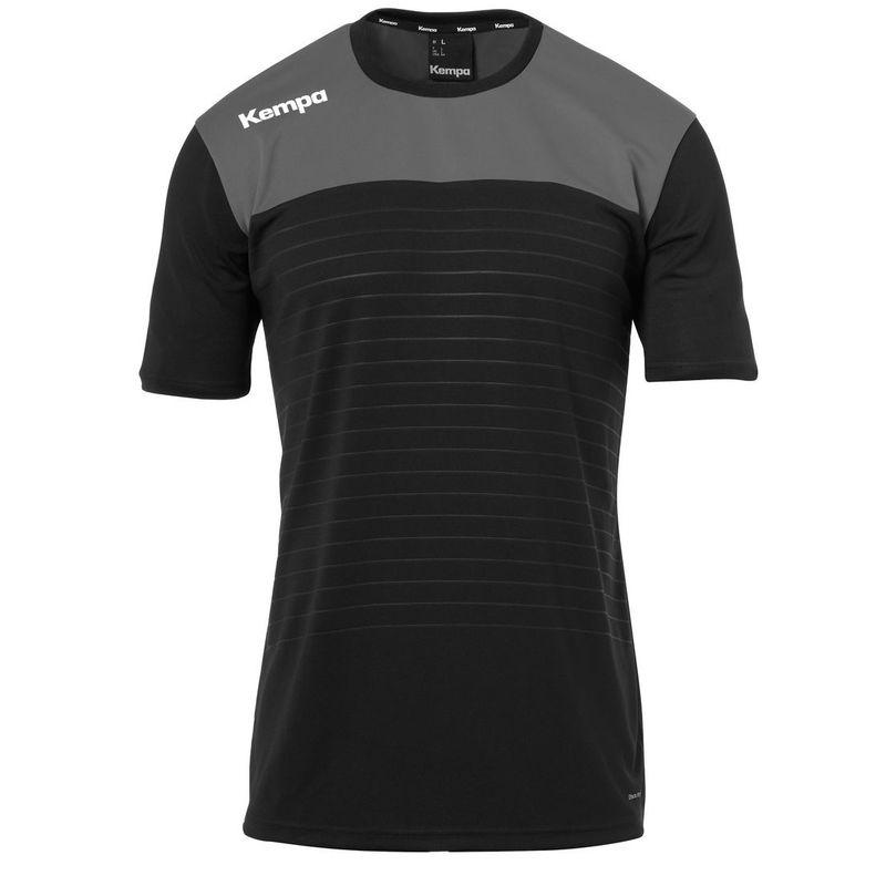 Kempa Emotion 2.0 Shirt Korte Mouw Zwart-Antraciet Maat S