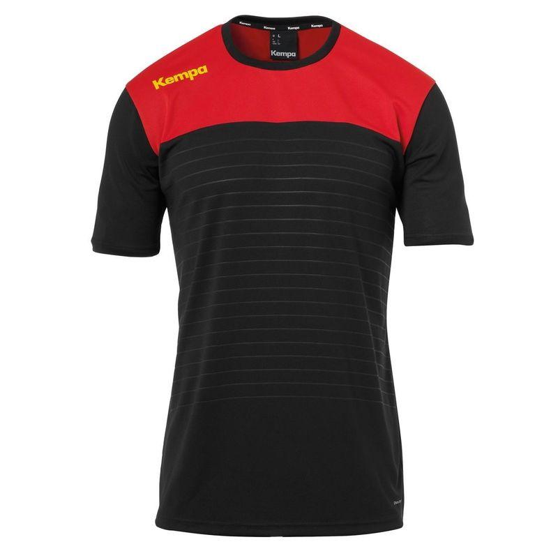Kempa Emotion 2.0 Shirt Korte Mouw Zwart-Rood-Geel Maat S