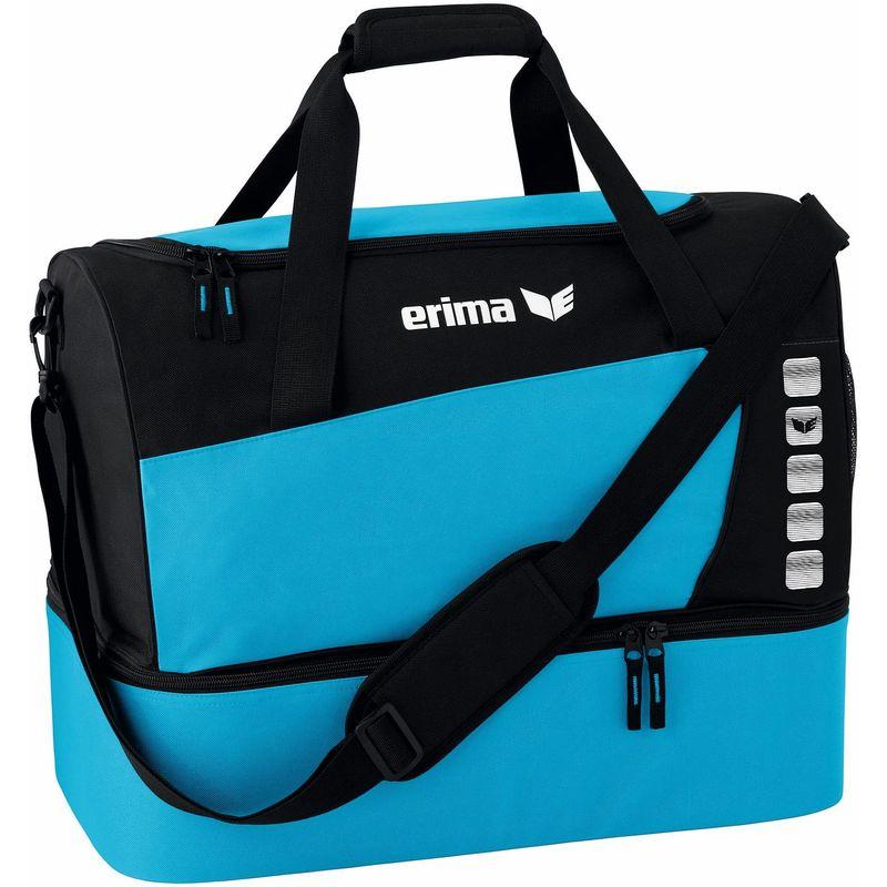 Erima Club 5 Line Sporttas met Bodemvak Maat L Curacao-Zwart