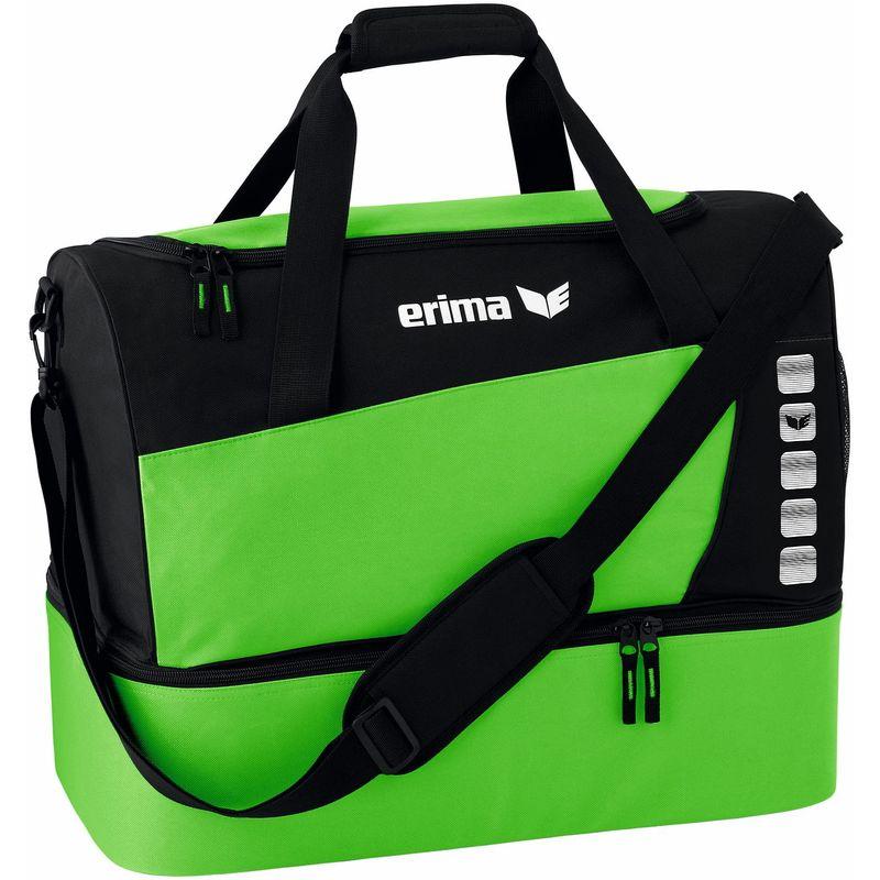 Erima Club 5 Line Sporttas met Bodemvak Maat L Green-Zwart