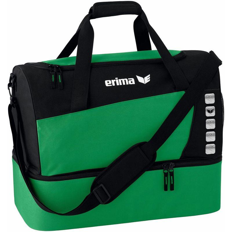Erima Club 5 Line Sporttas met Bodemvak Maat L Smaragd-Zwart