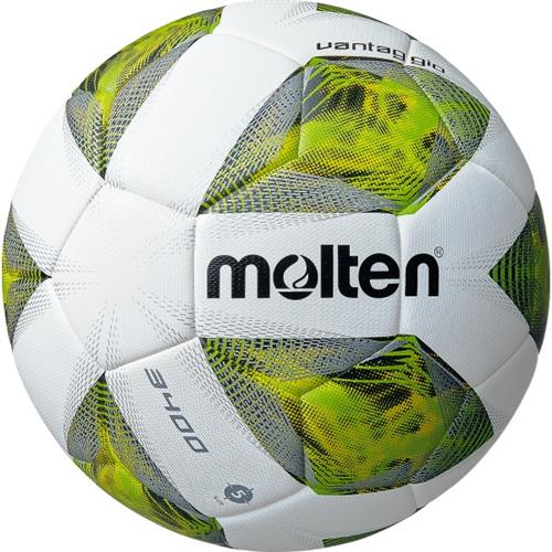 Molten Voetbal A3400 VB Wit-Grijs-Groen | Maat 5 | 440 Gram
