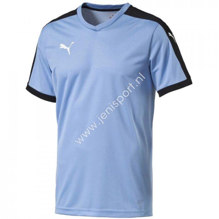 222d36def90 ... Puma Pitch Shirt Korte Mouw Team Pearl Blauw Zwart 702070 25 ...