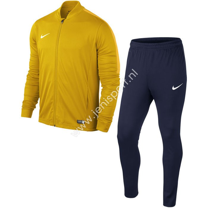 5053eea014a Nike Academy 16 Trainingspak University Goud Obsidian Varsity Maize 808760  739 ...