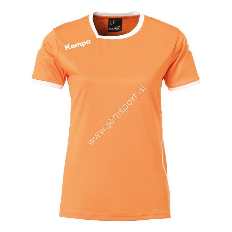 ab270253aaa ... Kempa Curve Shirt Dames Licht Oranje Wit 200306710 ...