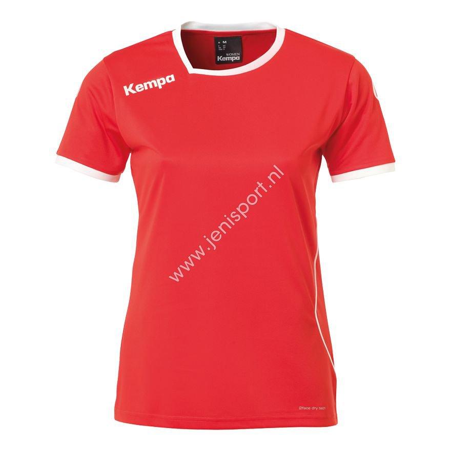 28ad439c0fa ... Zwart 200306701 Kempa Curve Shirt Dames Rood Wit 200306702 ...