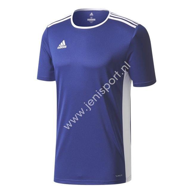 edd7a2be714 ... Adidas Entrada 18 Shirt Kind Donker Blauw Wit K CF1036 ...